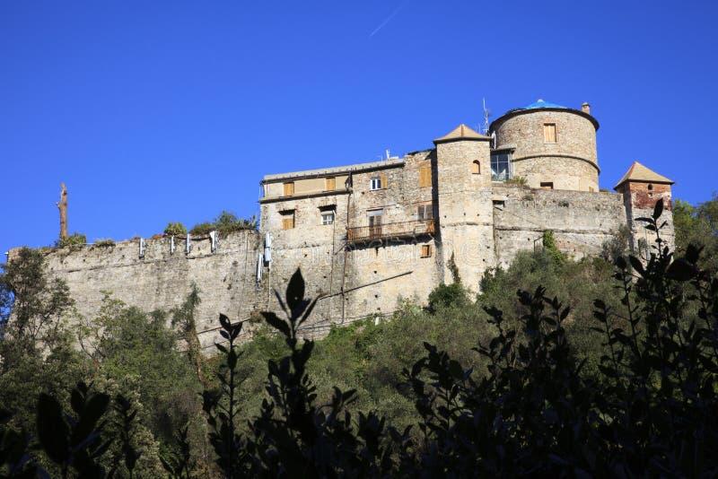 Il castello del Portofino antico, Genova, Liguria, Italia immagine stock libera da diritti
