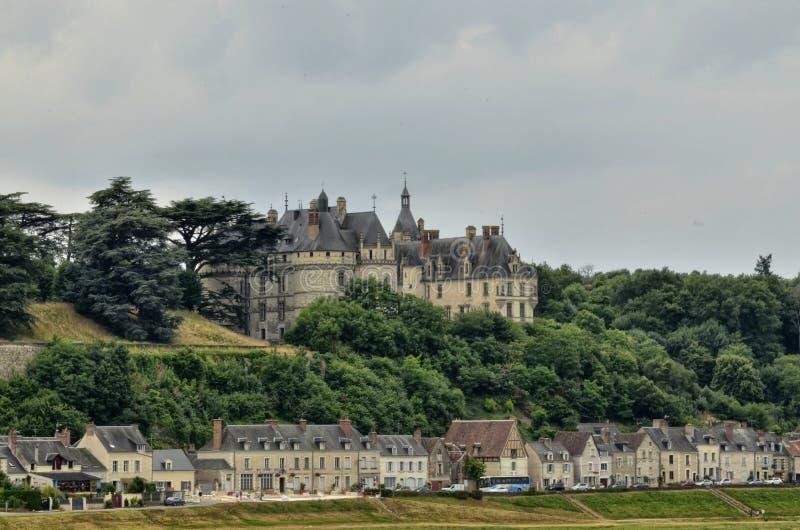 Il castello del sur la Loira di Chaumont fotografia stock