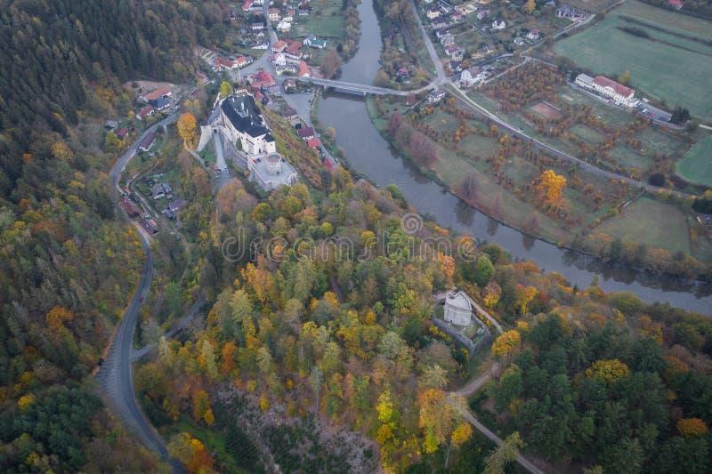 Il castello del ternberk del ½Å di ÄŒeskà è un castello della Boemia della metà del XIII secolo immagini stock libere da diritti