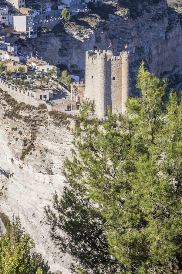 Il castello dell'origine del Almohad del secolo XII, contiene Alcala della t immagini stock