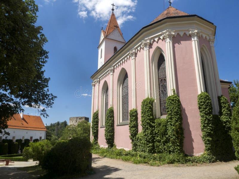 Il castello di Bitov dal 1061 è un monumento culturale, repubblica Ceca fotografia stock