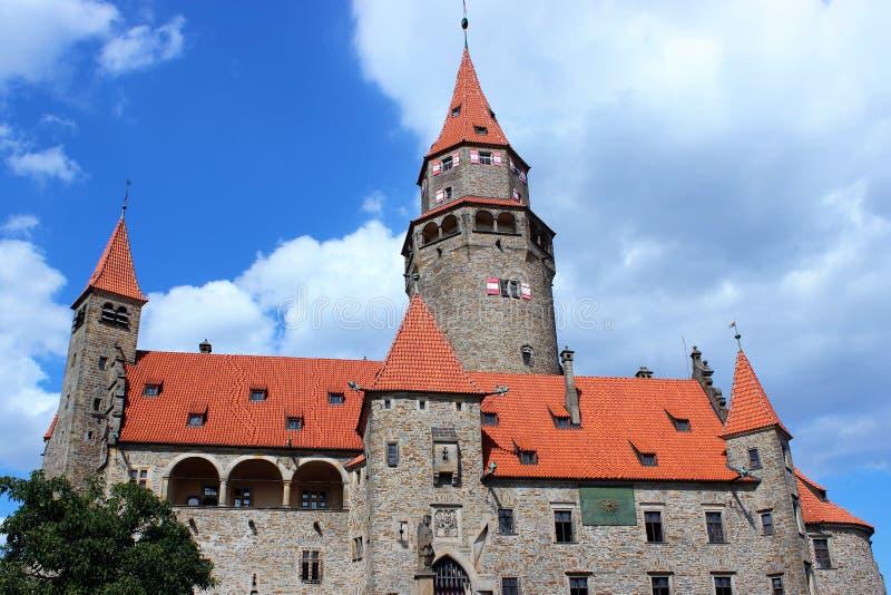 Il castello di Bouzov immagini stock