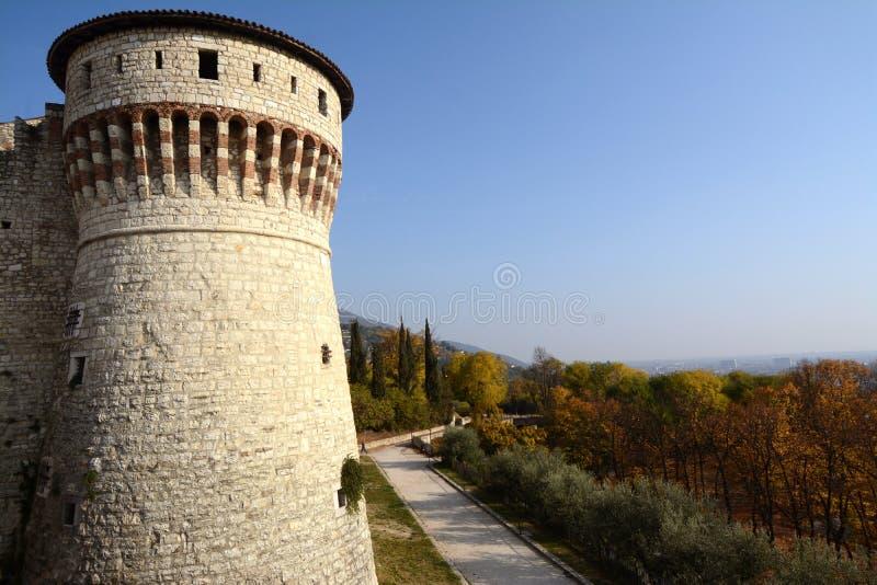 Il castello di Brescia fotografie stock
