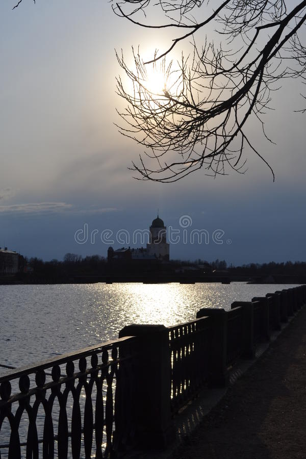 Il castello di Europa nella sera fotografia stock
