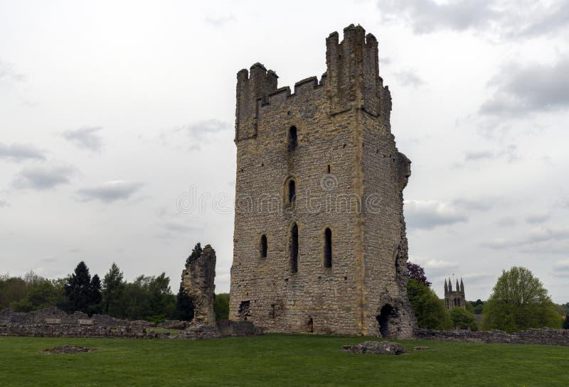 Il castello di Helmsley, Helmsley, North Yorkshire attracca, North Yorkshire, Inghilterra immagine stock