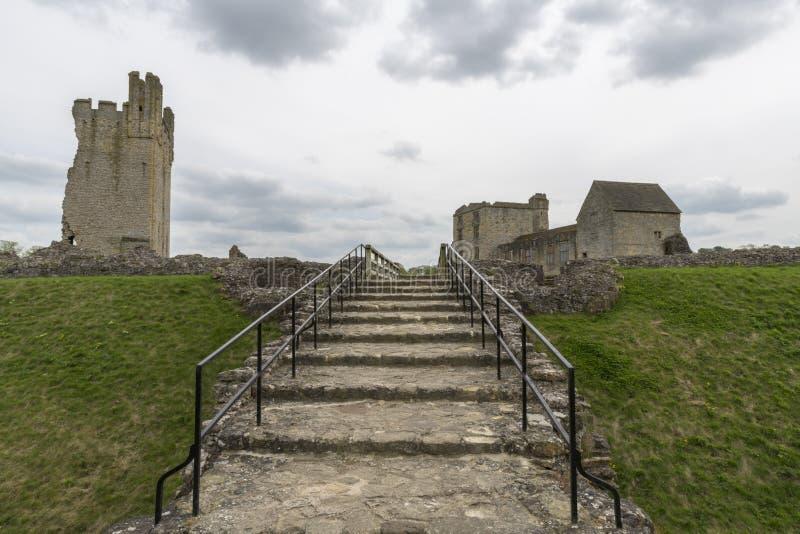 Il castello di Helmsley, Helmsley, North Yorkshire attracca, North Yorkshire, Inghilterra fotografie stock