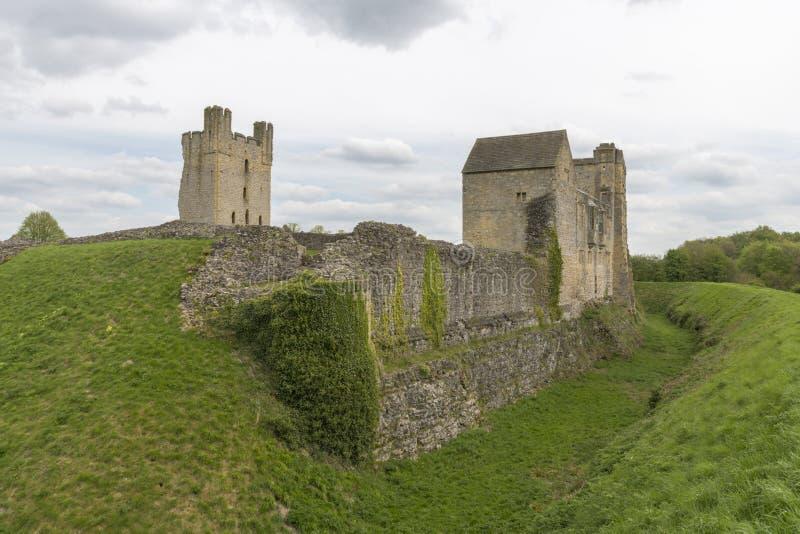 Il castello di Helmsley, Helmsley, North Yorkshire attracca, North Yorkshire, Inghilterra immagini stock