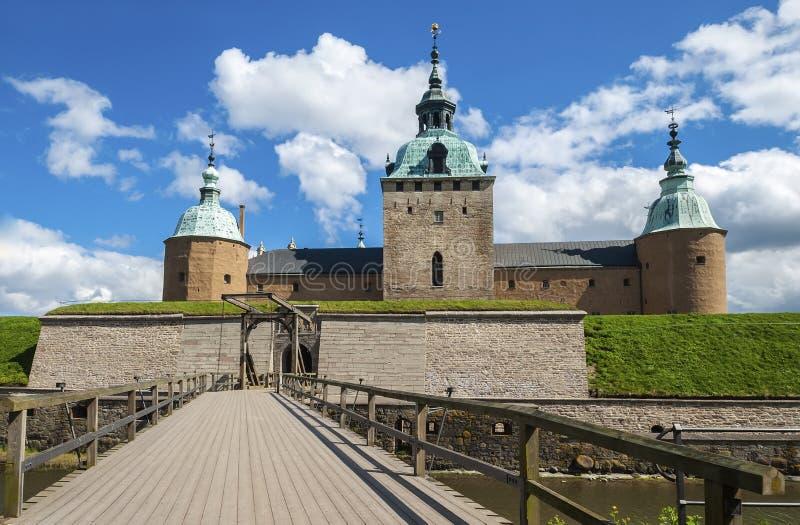 Il castello di Kalmar - città di Kalmar fotografie stock libere da diritti