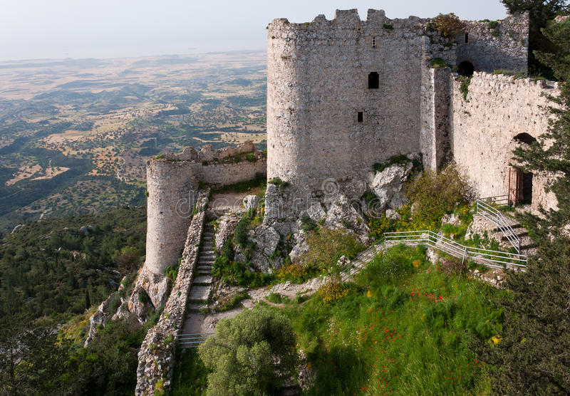 Il castello di Kantara nelle origini nordiche di Cyprus immagini stock libere da diritti