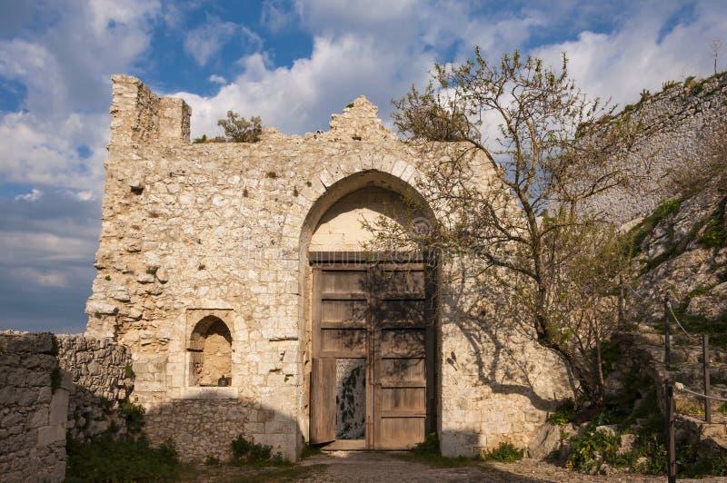Il castello di Mussomeli immagine stock libera da diritti
