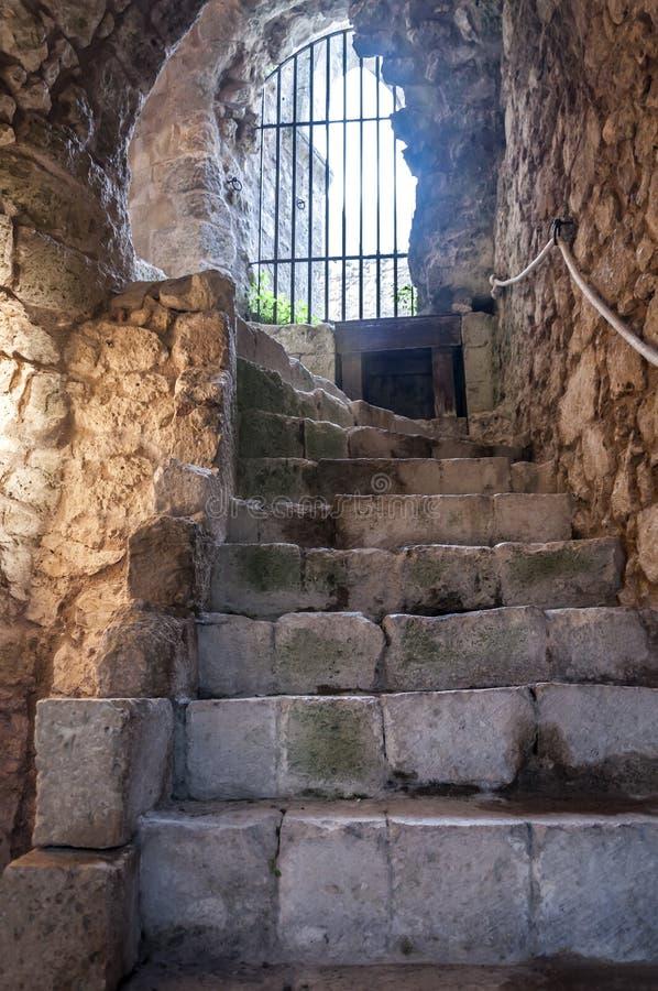 Il castello di Mussomeli fotografia stock libera da diritti