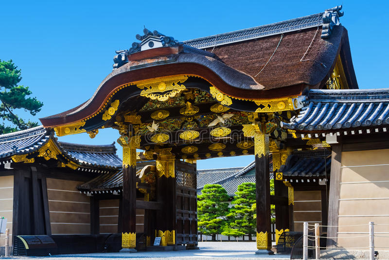 Il castello di Nijo immagini stock libere da diritti