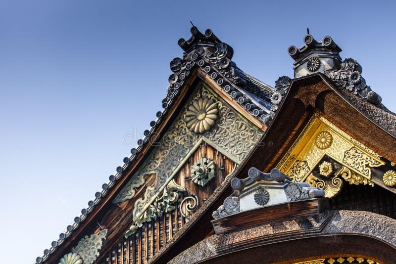 Il castello di Nijo-jo a Kyoto fotografia stock libera da diritti