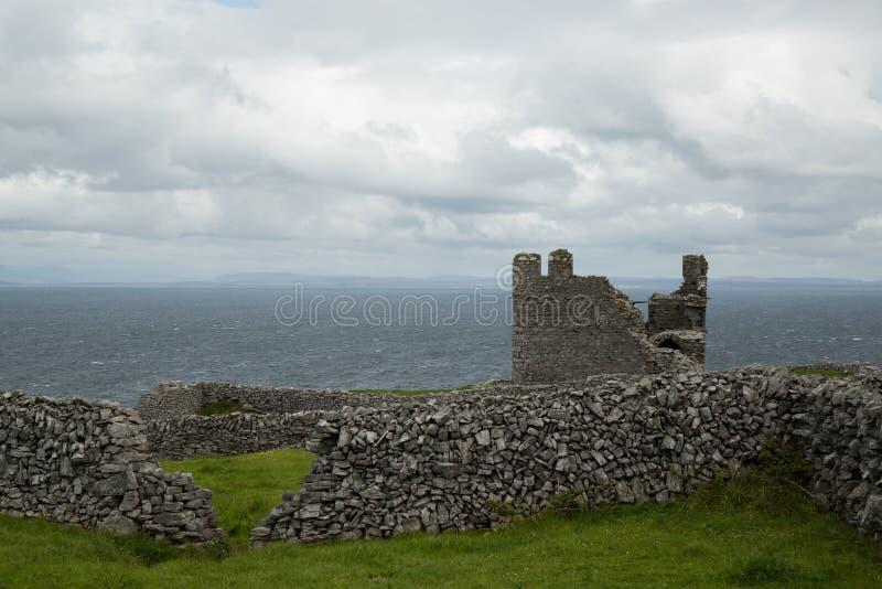 Il castello di O'Brien, Inisheer, isole di Aran, Irlanda immagine stock libera da diritti