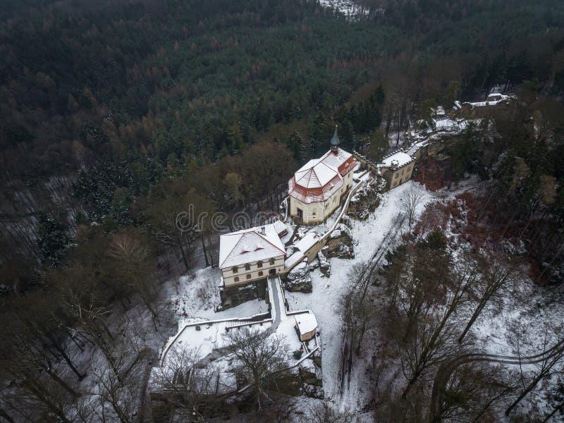 Il castello di Valdstejn è in Boemia del nord in repubblica Ceca fotografia stock libera da diritti
