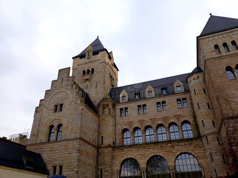 Il castello imperiale di Wilhelm Ii a Poznan fotografie stock libere da diritti