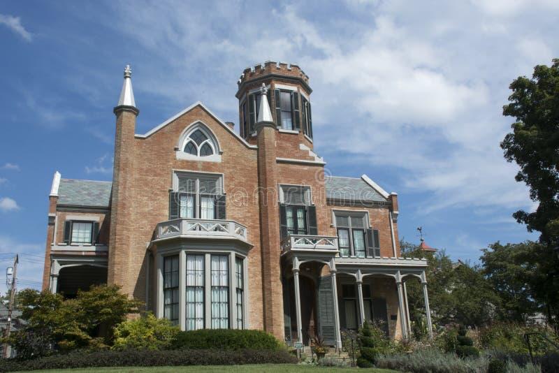 Il castello, Marietta, Ohio immagini stock libere da diritti