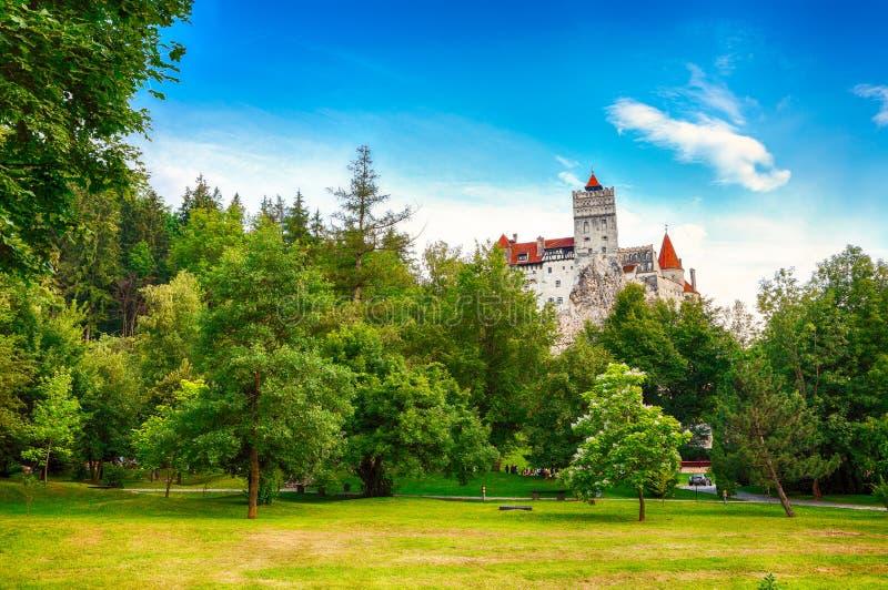 Il castello medievale di crusca conosciuto per il mito di Dracula fotografia stock