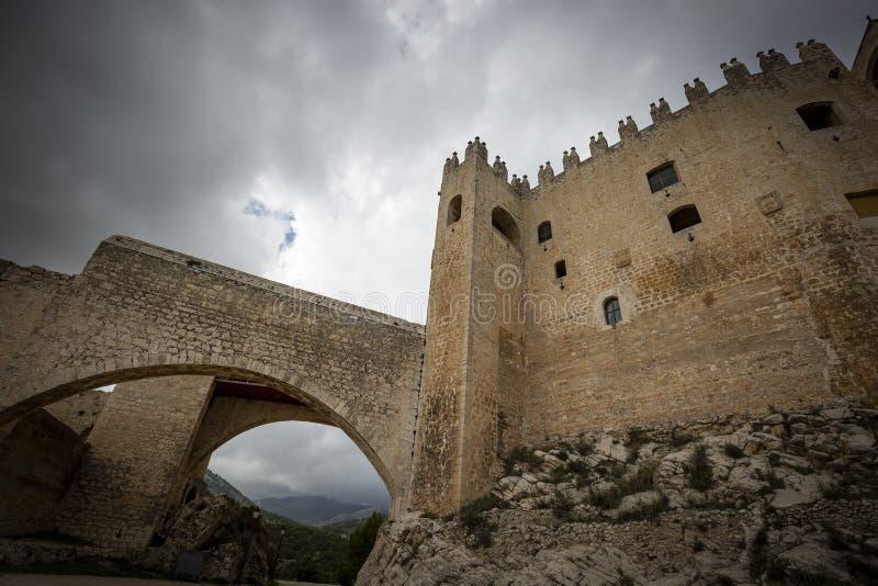 Il castello medievale di Velez Blanco immagine stock libera da diritti