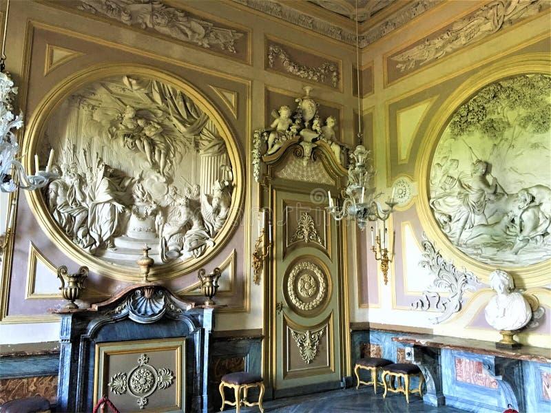 Il castello reale di Racconigi, provincia di Cuneo Italia Arte e storia fotografia stock libera da diritti