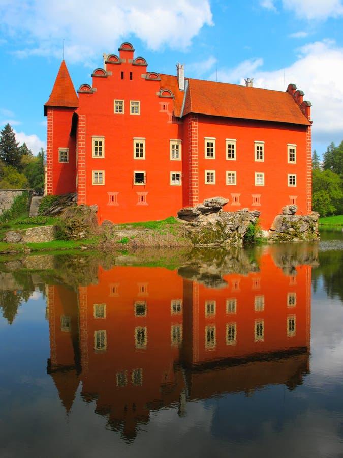 Il castello rosso immagine stock