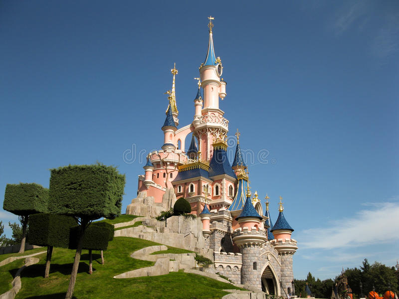 Il Castle Disneyland Parigi di principessa immagine stock libera da diritti