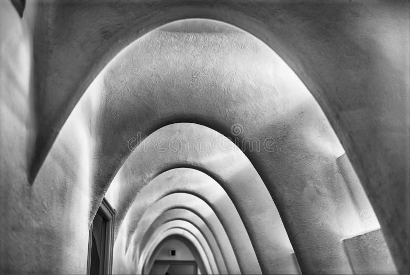Il catenaria si arca in attico della casa Batllo, Barcellona, Catalogna, immagine stock libera da diritti