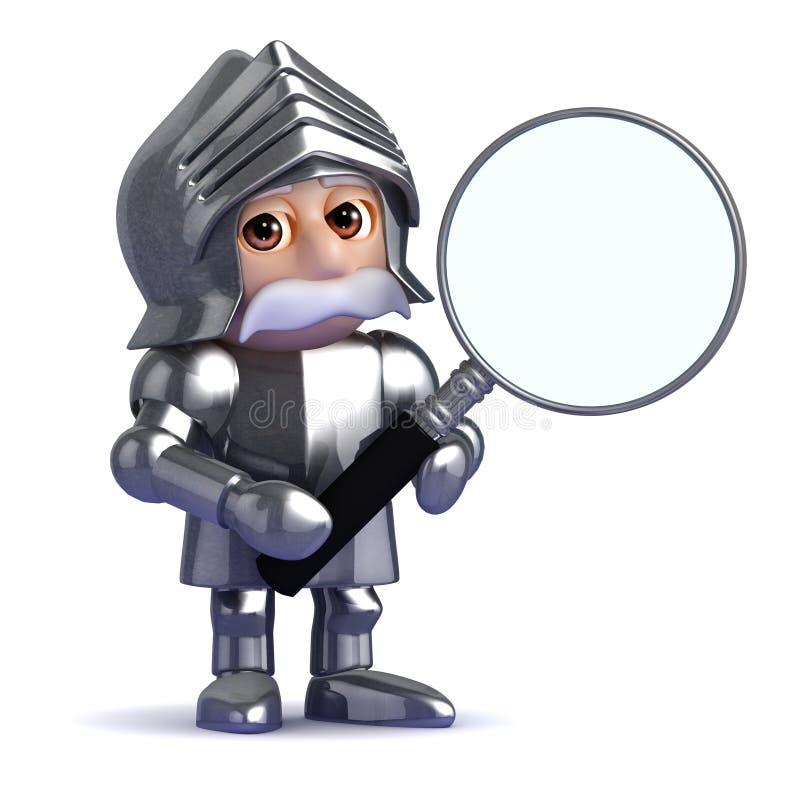 il cavaliere 3d ingrandice royalty illustrazione gratis