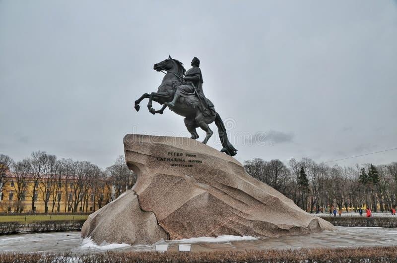 Il cavallerizzo Bronze fotografie stock
