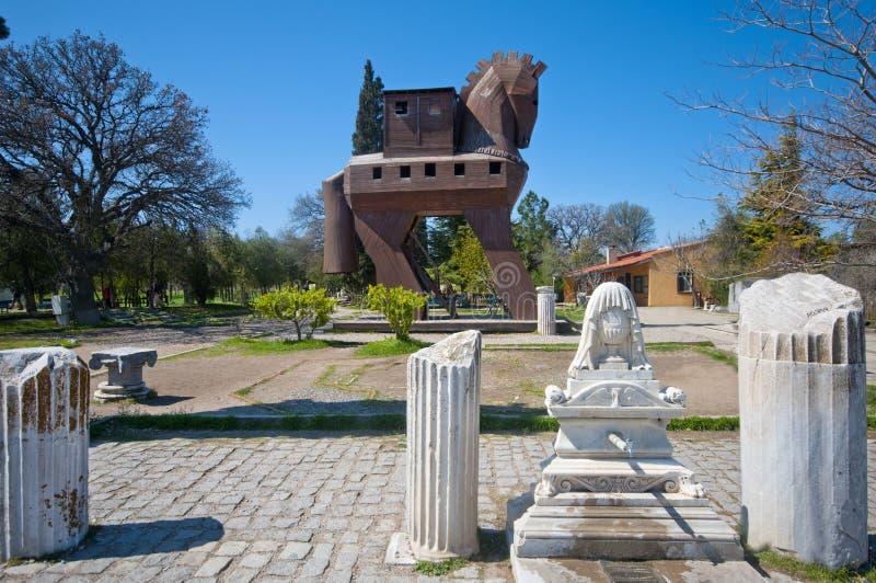 Il cavallo di legno di Troy, Turchia immagine stock