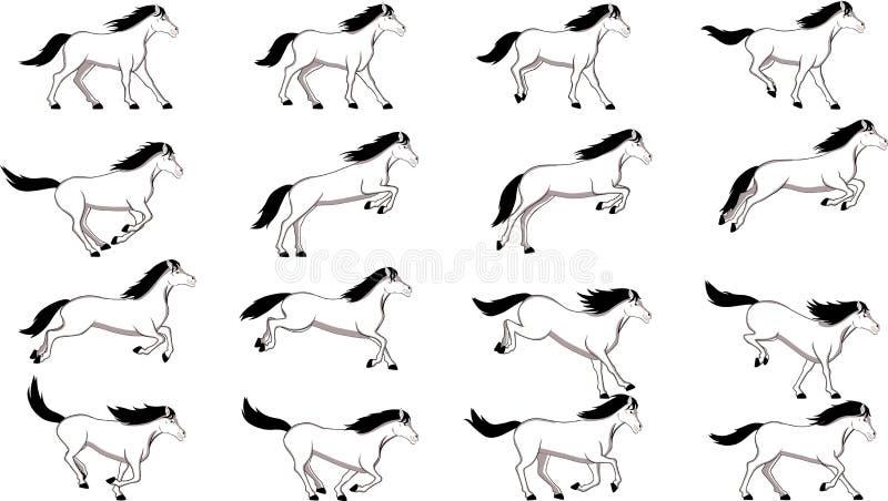 Il cavallo salta illustrazione vettoriale