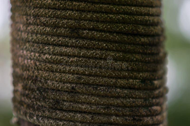 Il cavo della corda ritorna uso nuovo, fotografia stock libera da diritti
