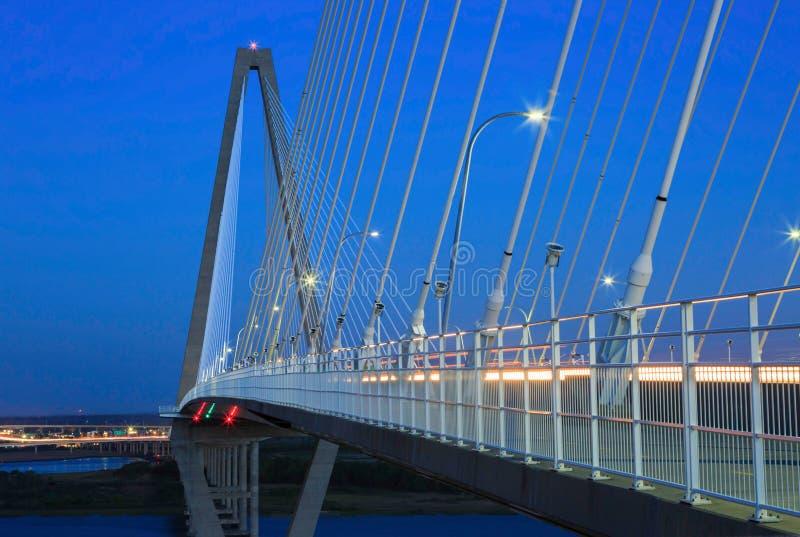 Il cavo resta lo Sc di Charleston del ponte di Ravenel della sospensione fotografia stock libera da diritti