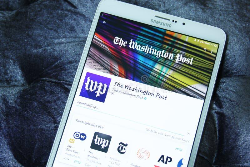 Il cellulare app di Washington Post immagine stock libera da diritti