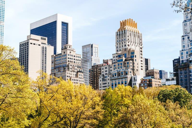 Il Central Park dello stagno, New York fotografie stock