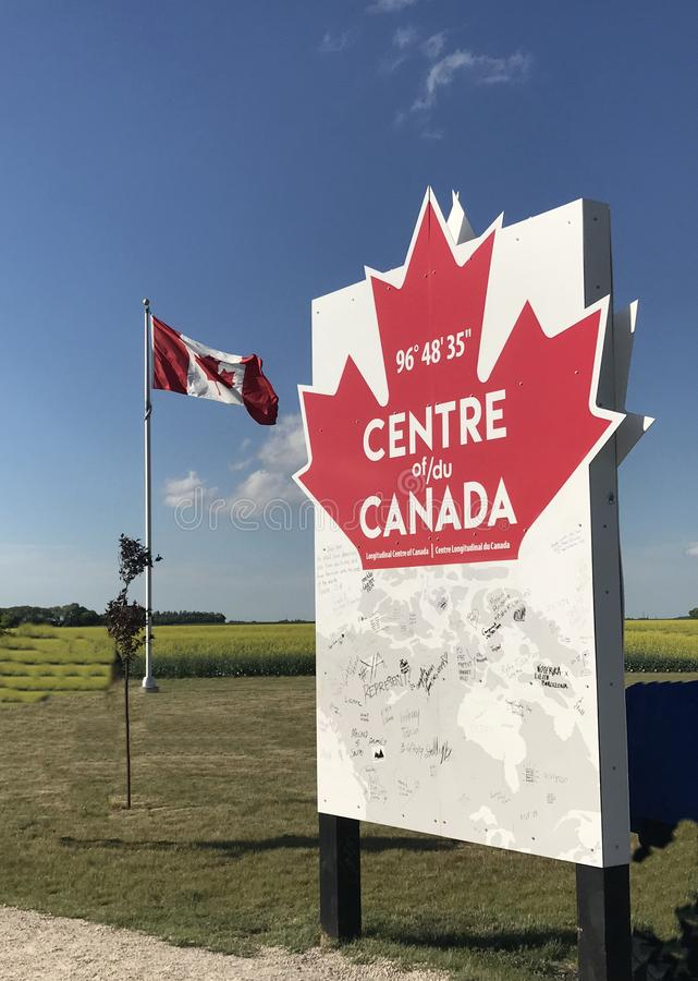 Il centro del monumento del Canada fotografie stock