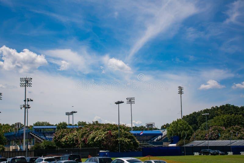 Il centro del tennis del parco di Rock Creek durante il Citi apre 2015 fotografia stock
