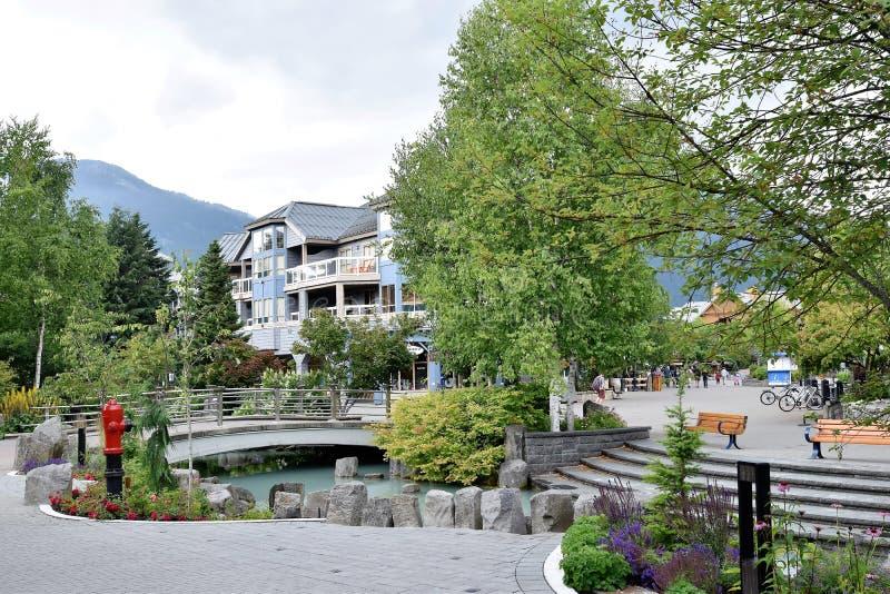 Il centro del villaggio olimpico di Whistler fotografia stock