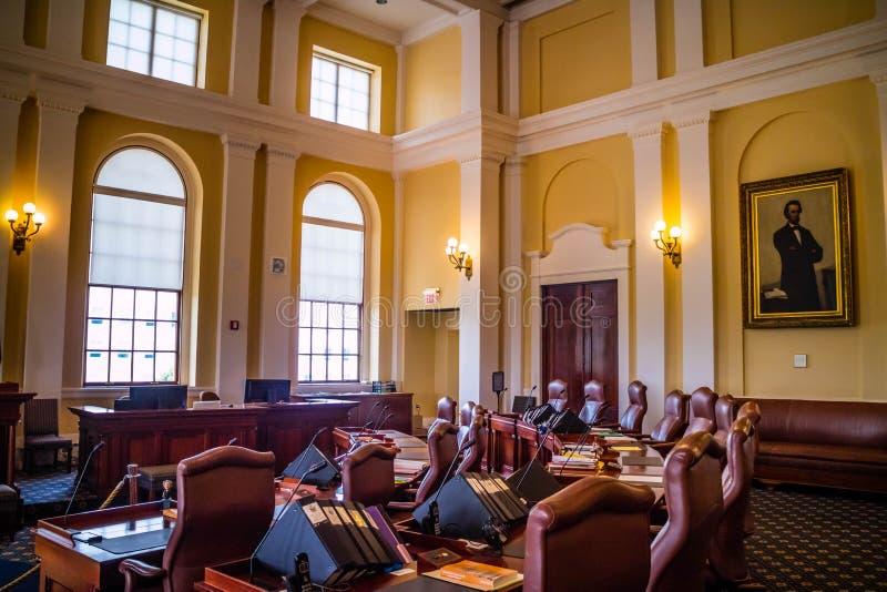 Il centro dell'amministrazione in Augusta State Capital, Maine immagine stock