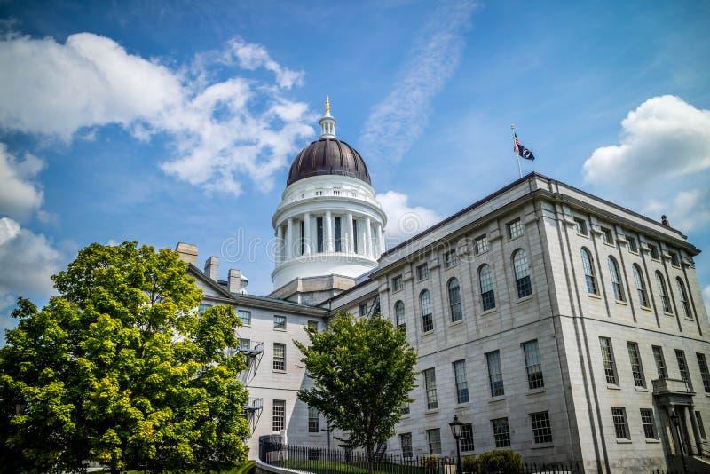 Il centro dell'amministrazione in Augusta State Capital, Maine fotografie stock libere da diritti