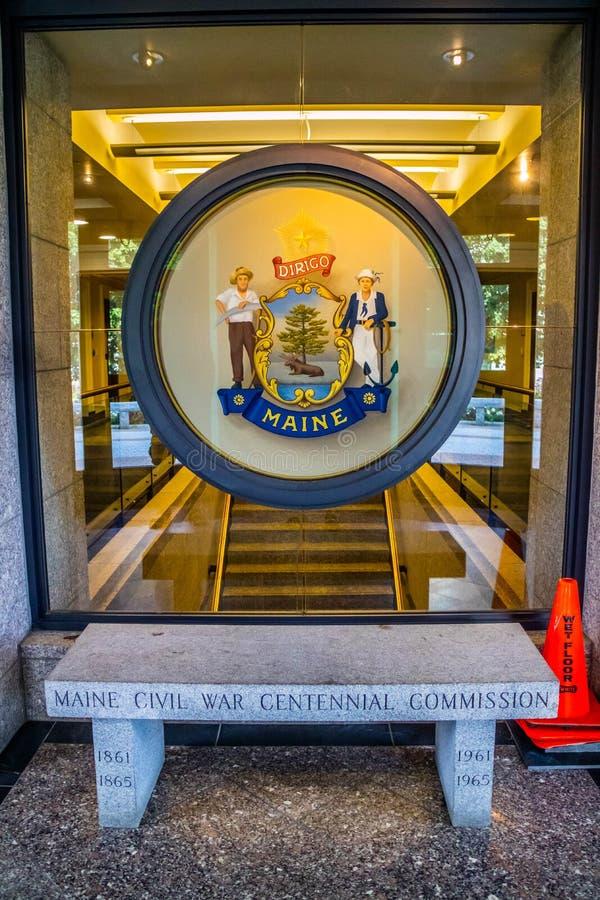 Il centro dell'amministrazione in Augusta State Capital, Maine immagine stock libera da diritti