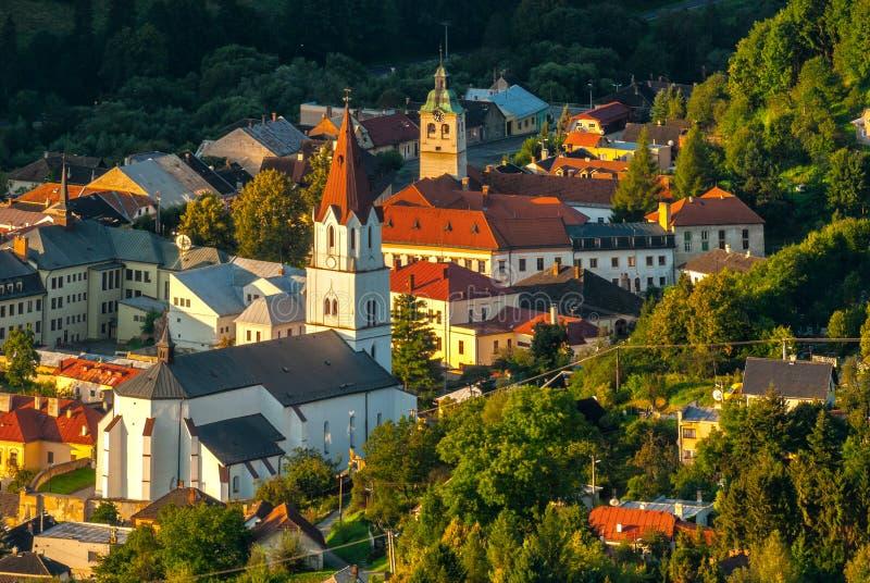 Il centro della città di Gelnica fotografia stock