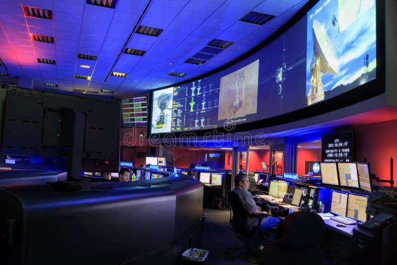 Il centro di comando della NASA immagini stock libere da diritti