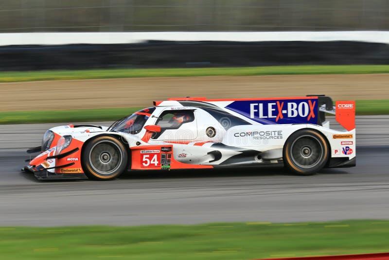 Il CENTRO di corsa pro Autosport ORECA LMP2 fotografia stock libera da diritti