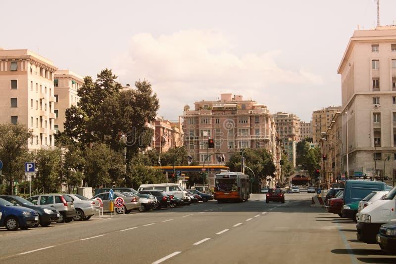 Il centro di Genova fotografie stock