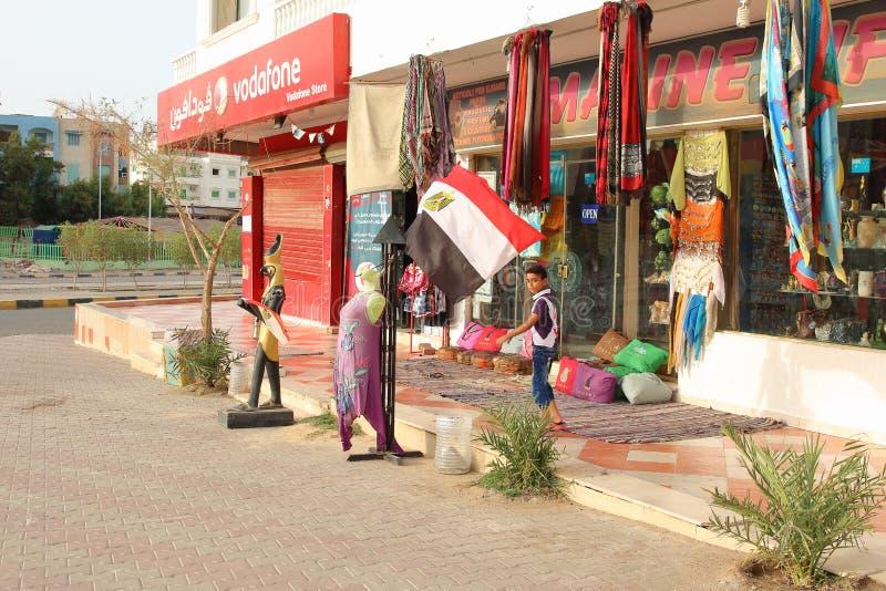 Il centro urbano di Marsa Alam, Egitto fotografia stock