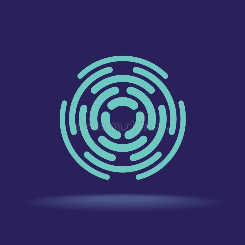Il cerchio astratto segmenta il segno Logo della costruzione illustrazione vettoriale