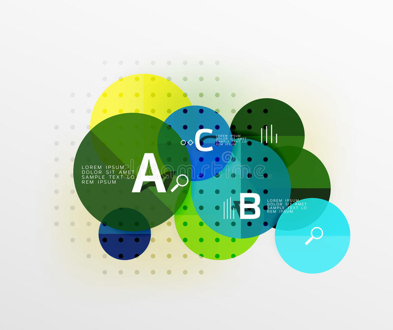 Il cerchio di vettore bolle fondo geometrico moderno royalty illustrazione gratis