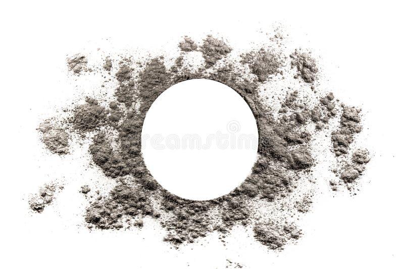 Il cerchio e l'esplosione solare modellano l'illustrazione fatta in cenere fotografie stock libere da diritti