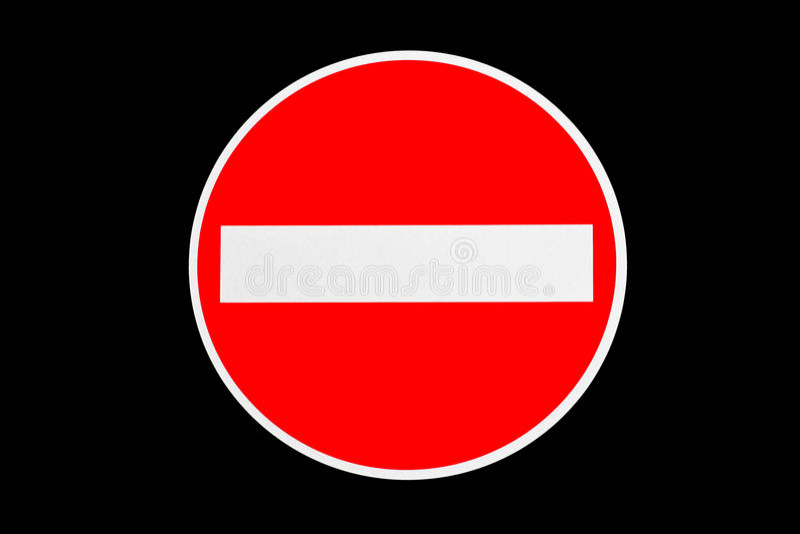 Fermata della linea rossa immagini stock libere da diritti